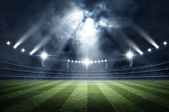 a stadium at night in seattle washington